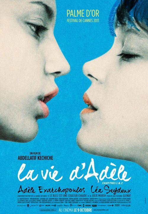 .La vita di Adele - Capitoli 1 & 2 è un film del 2013 diretto da Abdellatif Kechiche ispirato al romanzo a fumetti Il blu è un colore caldo di Julie Maroh. Il film si è aggiudicato la Palma d'oro al Festival di Cannes 2013.