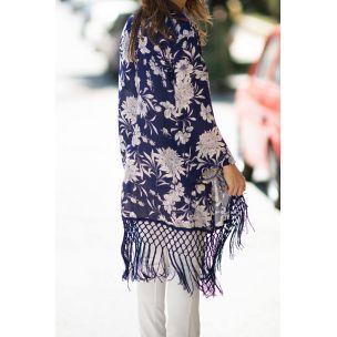 Singapore Blue kimono