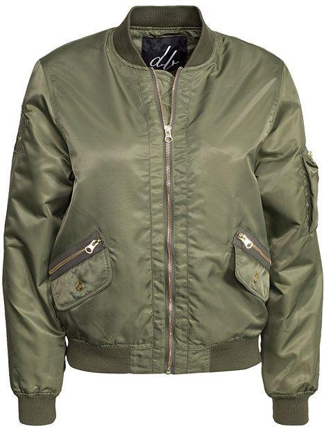 Golden Zipper Bomber Jacket - D Brand - Green - Jackor - Kläder - Kvinna - Nelly.com