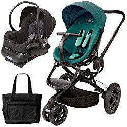 Quinny Moodd Stroller Travel system with diaper bag and car seat - Green Courage
