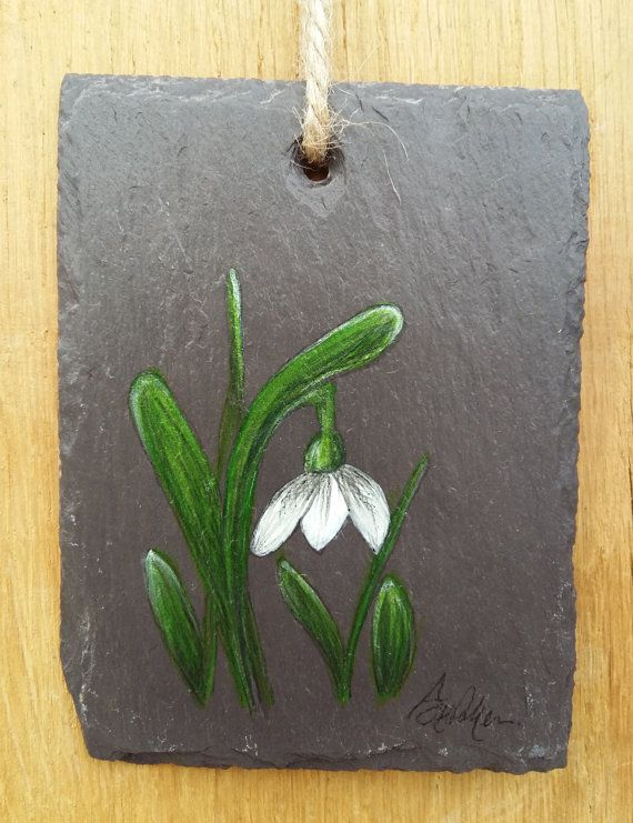 Original handpainted acrylic painting on reclaimed Slate. Ready to hang 8x10cm approx  Uk Shipping £2.95 Worldwide shipping available  Abi H-Parker ART Original Artworks Inspired by nature