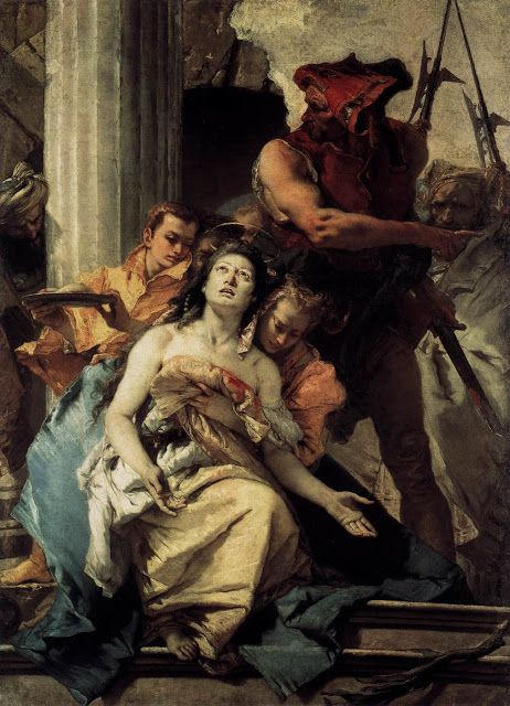 Το μαρτύριο της Αγίας Αγκάθας. (1756)