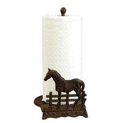Iron Horse Paper Towel Holder