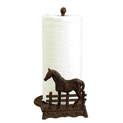 Iron Horse Paper Towel Holder