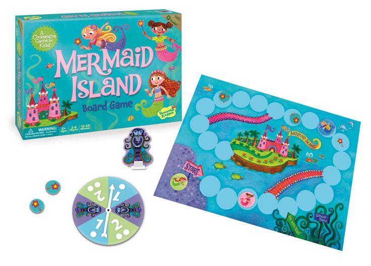 Mermaid Island board game for girls