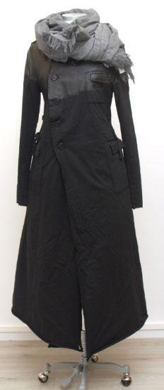 rundholz dip - Mantel Long Sweater paint black - Winter 2015 - stilecht - mode für frauen mit format...