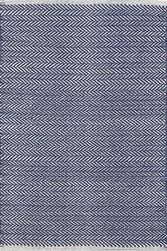 Far Superior to yesterday's choices - $560 for 9x12. Dining Room perfection. Herringbone Indigo Woven Cotton Rug