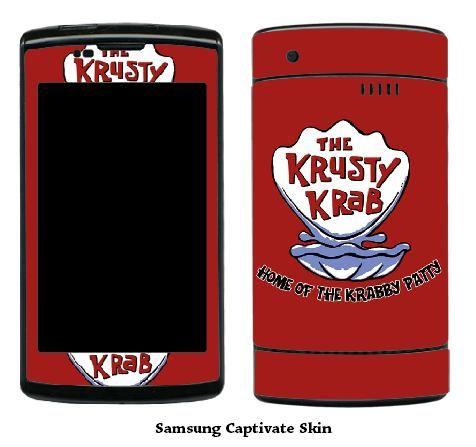 Krusty Krab Samsung Captivate Phone Skin #2