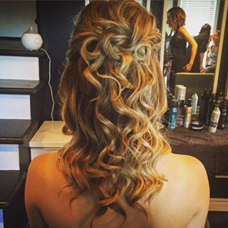 #PartialUpdo #LongHair #Curls #UrbanSpaHairDesigns