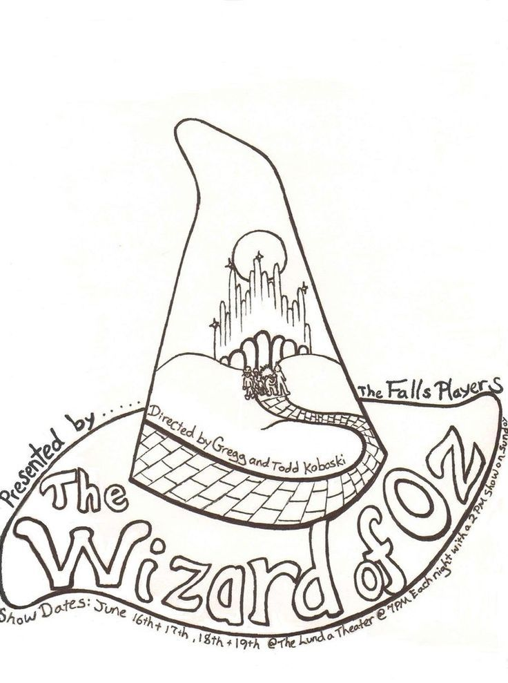Wizard Of Oz Coloring Pages Free To Print Wizard Of Oz Color