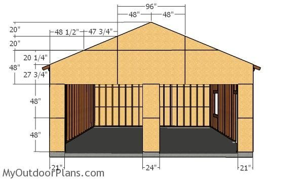 24x24 Double Garage Plans Myoutdoorplans Free Woodworking Plans And Projects Diy Shed Wooden Playh Double Garage Plans Garage Building Plans Garage Plans