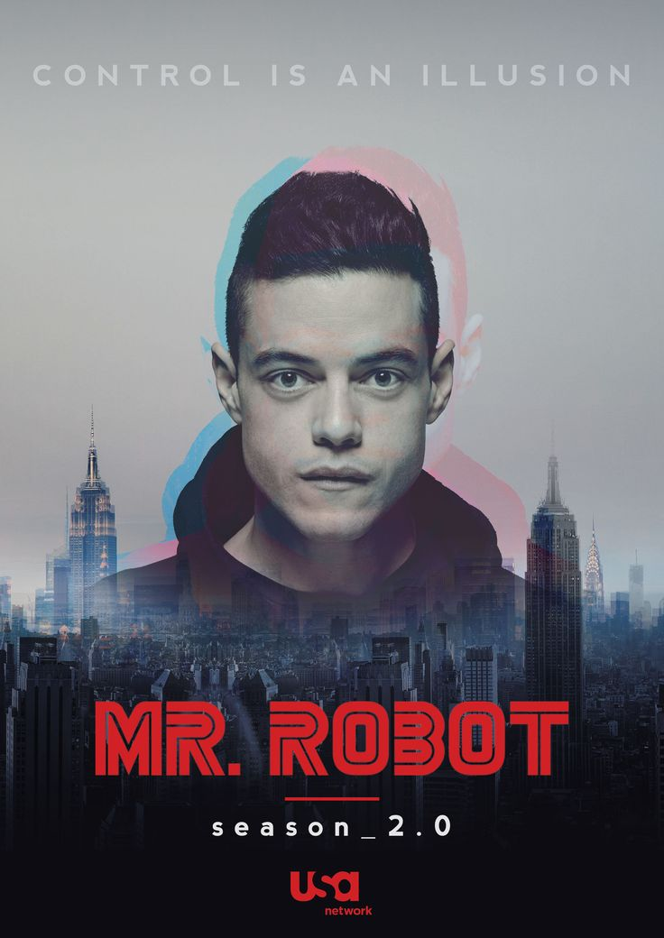 """""""Control is an Illusion"""" Poster for the second season of Mr. Robot"""