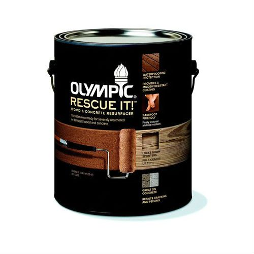 """A class action alleges that Olympic-brand """"Rescue It!"""" concrete and deck sealant is defective, and typically flakes and peels after less than a year."""