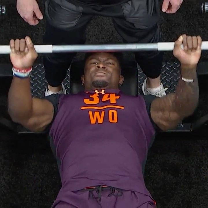 Nfl On Instagram Dk Metcalf14 Put Up 27 Reps On The Bench Press Nflcombine Bench Press Nfl Instagram