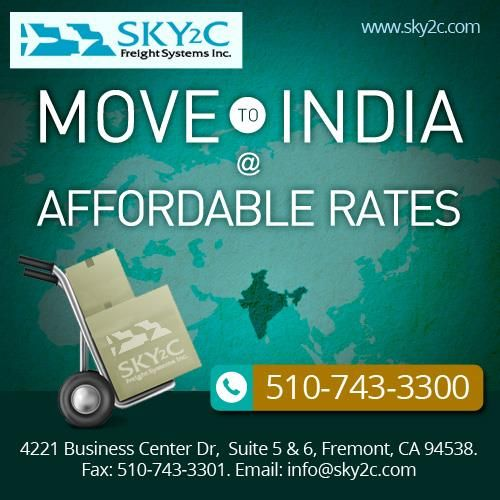 Moving your belongings is a tough operation. Especially when you are planning to Move from USA to India. To ensure the relocation runs smoothly it is crucial that you make the best choice possible , when it comes to the moving company you will hire. That's where Sky2c Freight Systems Comes in.