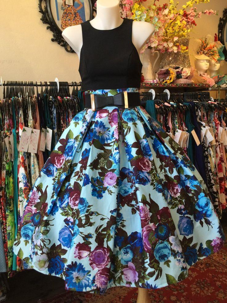 Maggie Mae Blue Double Box Pleated Skirt – GiGi's Fairy Fashion. RACHEL ZHOO