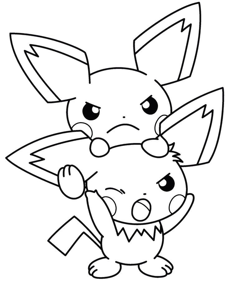 Coloring Electric Pichu Picture Pokemon Coloring Pokemon