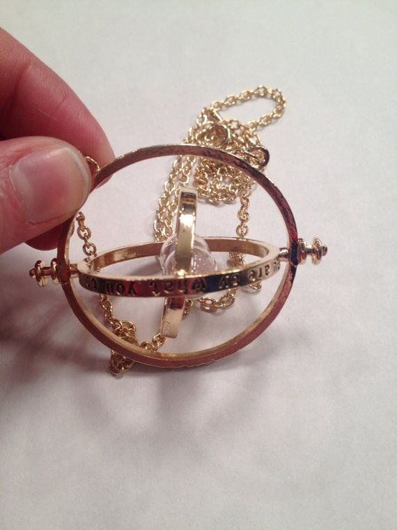 Harry Potterinspired Time Turner Gold Necklace by BeyondtheWire