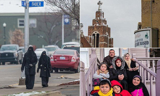 "{   ISLAM USA: INSIDE AMERICA'S ONLY MUSLIM-MAJORITY CITY, WHERE THE CALL TO PRAYER ECHOES IN THE STREETS - AND SYRIAN REFUGEES ARE WELCOMED IN DEFIANCE OF THE GOVERNOR   } #DailyMailUK ..... ""It is now welcoming Syrian refugees despite the Michigan governor wanting none in his state.""....  http://www.dailymail.co.uk/news/article-3336823/Inside-Hamtramck-America-s-Muslim-majority-city-call-prayer-echoes-streets-Syrian-refugees-welcomed-defiance-governor.html#ixzz3t0PAWtaq"