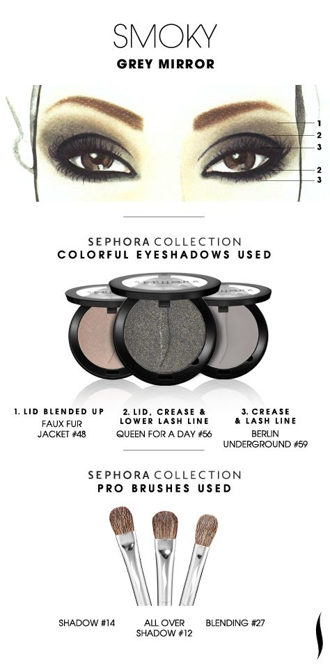 SMOKY: Grey Mirror HOW TO #sephoracollection #sephora #eyeshadow #makeup