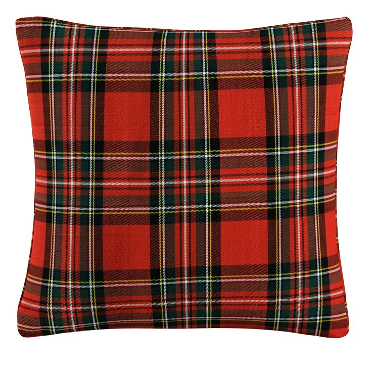 Red Plaid Throw Pillow Skyline Furniture Plaid throw