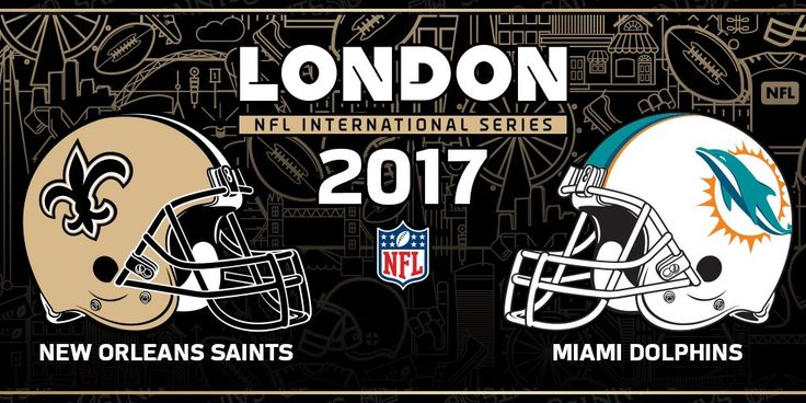 The Saints-Dolphins game in London will be on Sept. 24, 2017 or Oct. 1, 2017 at Wembley Stadium! #NFLUK #NOvsMIA