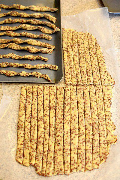 Flaxseed Twisty Sticks - An easy and savory cracker recipe made with flaxseed…