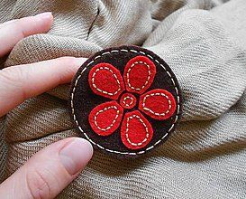 Odznaky/Brošne - Brošna kvet - 7464019_