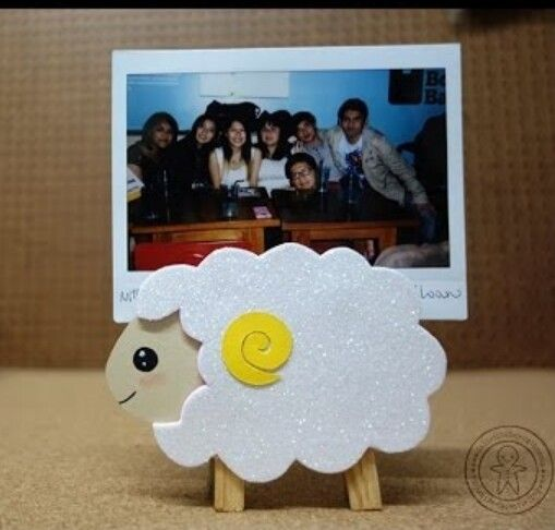 Porta retrato de ovejita