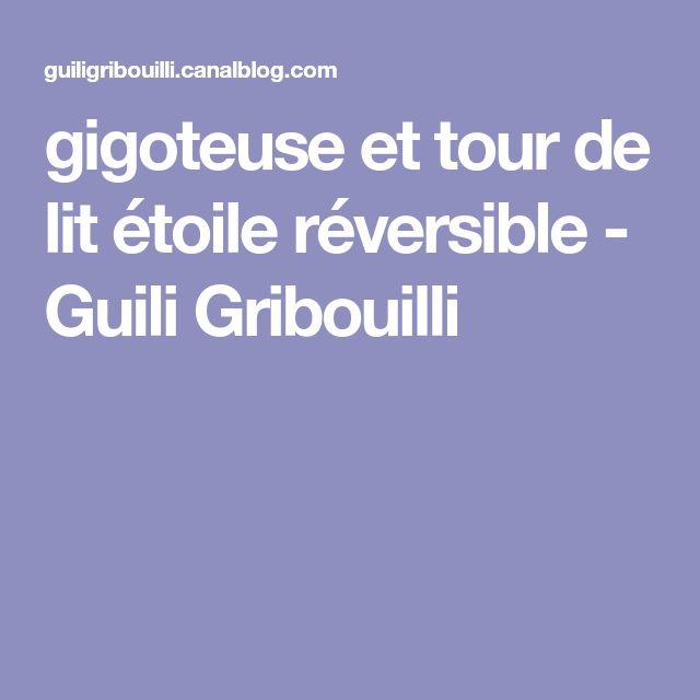 gigoteuse et tour de lit étoile réversible - Guili Gribouilli