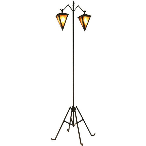 Arts Crafts Floor Lamp with Dual Lanterns ($1,875) ❤ liked on Polyvore featuring home, lighting, floor lamps, craftsman floor lamp, arts and crafts lamps, craftsman lighting, craftsman style floor lamps and arts and crafts lighting