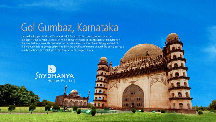 #GolGumbaz, an elegant edifice located in a sprawling 70-acre manicured estate in Bijapur.