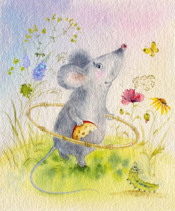 Открытки для мышки серой, рисунки словами