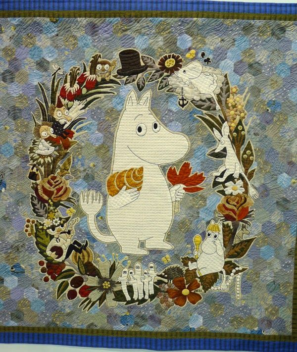There was a special display of quilts inspired by the Moomins at the Tokyo Quilt Show.         Moomins were created by Swedish-Finn Tove Jan...