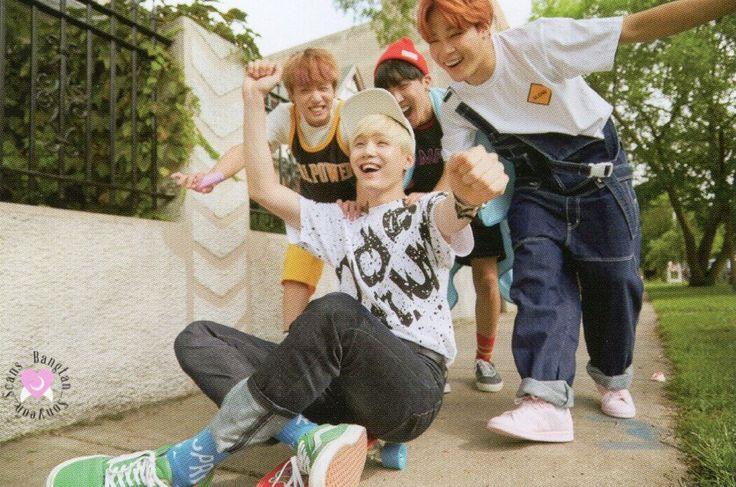 Son como niños Suga, Jimin, J-Hope y Jungkook