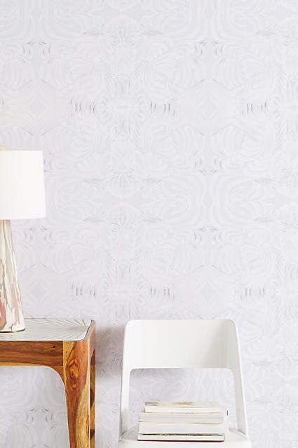 Mitchell Black Porcelain Flora Wallpaper