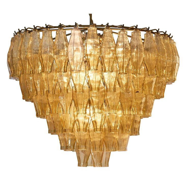 Murano Glass Vintage Chandelier in the Style of Venini