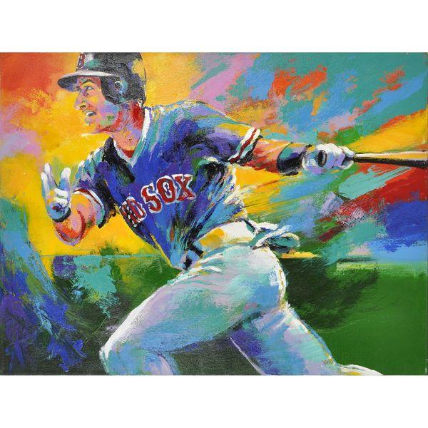 Nomar Garciaparra Boston Red Sox Fanatics Authentic Unsigned Horizontal Malcolm Farley Original Artwork - $3999.99