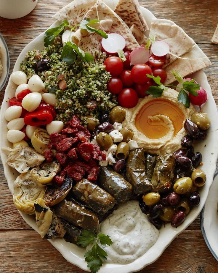Vegetarian Mezze Platter from http://www.whatsgabycooking.com (/whatsgabycookin/)