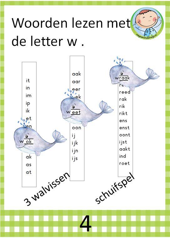 Kern 4 woorden lezen met letter w