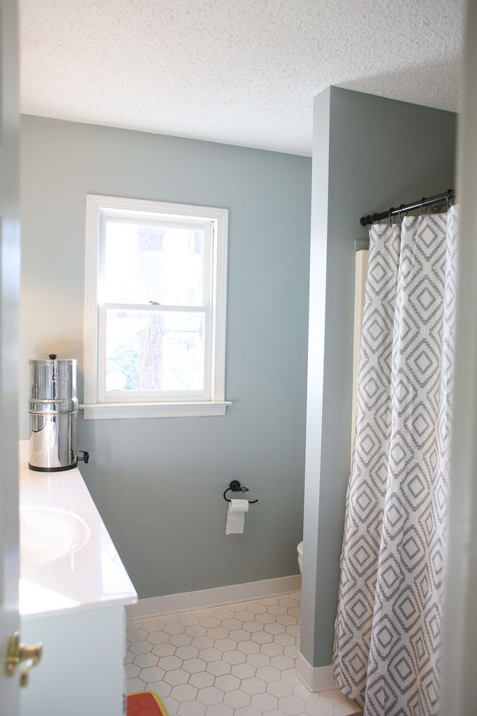 Using Glidden Dusty Miller To Redo Our Guest Bathroom