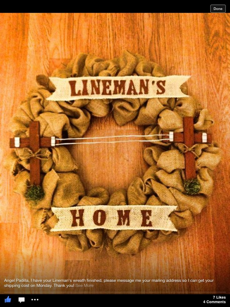Lineman wreath