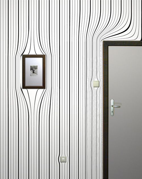 Warped Wallpapers Optical Illusion - http://www.moillusions.com/warped-room-wallpapers-optical-illusion/