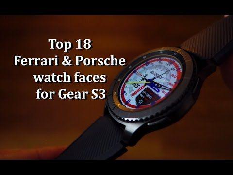 Top 18 Ferrari & Porsche watch faces for Gear S3 - Andrasi.ro