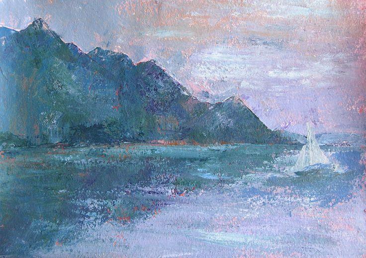 Sail on Lake of Geneva by Lorien Cogez