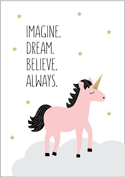 Dream Unicorn Print More