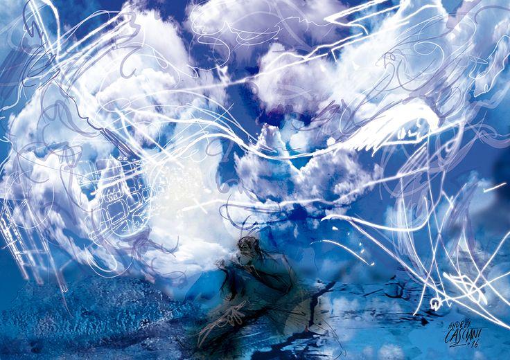 """""""Los hijos de los días"""" - Galeano ilustrado por Casciani 28/12 - acá podés leer el texto: http://andrescasciani.blogspot.com.ar/2016/12/los-hijos-de-los-dias-galeano-ilustrado_98.html"""