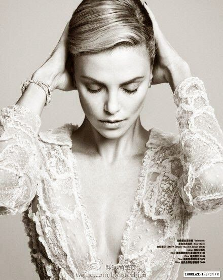 Charlize Theron in Valentino for Harper's Bazaar China