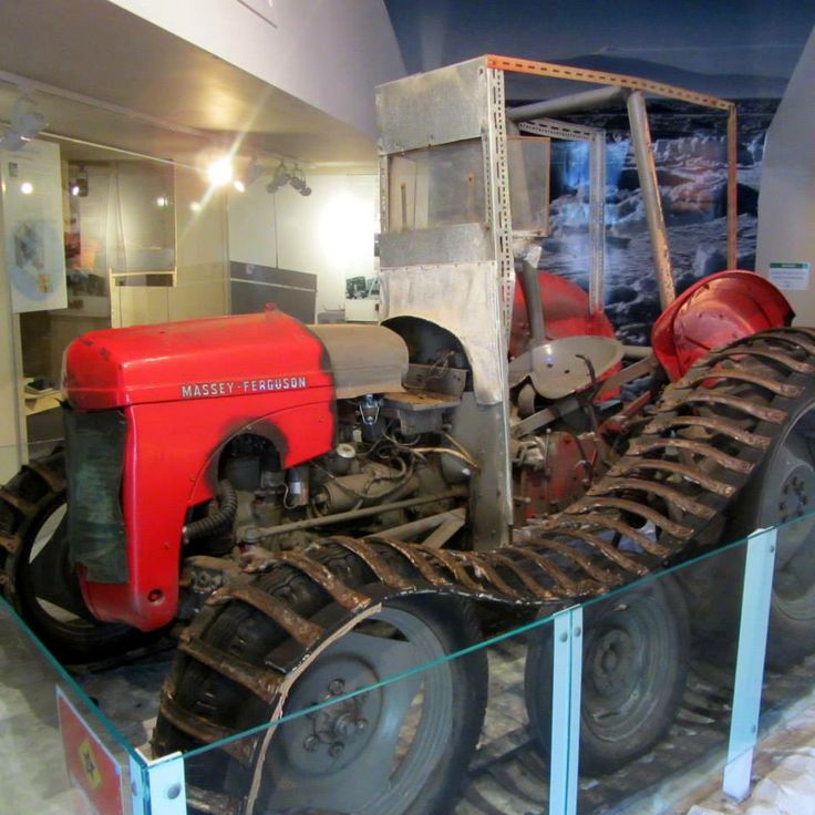 Ferguson Tractor, one of three used during Sir Ed's 1956 -8 Antarctic Expedition. Photo Credit: Graeme Cash. Copyright Exploring My Own Backyard, 2014.  http://exploringmyownbackyard.com/2014/05/06/motat/