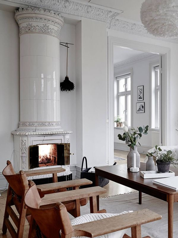Fireplace Design scandinavian fireplace : 599 best Swedish Kakelugn images on Pinterest